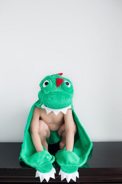 Devin le dinosaure serviette enfant
