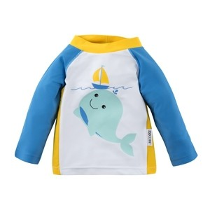 Tee-shirt anti UV rose motif baleine (6-12M)