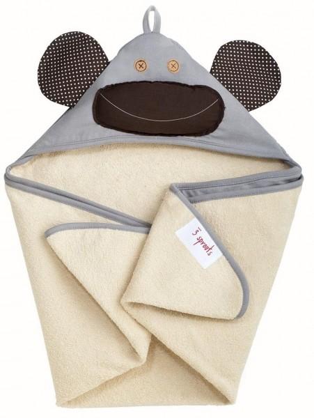 Serviette de bain avec capuche Singe (gris)
