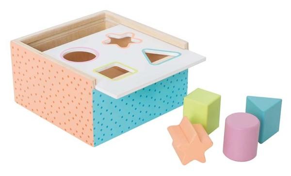Boîte d''éveil bois multicolore