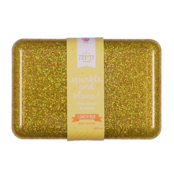 Boîte à déjeuner paillettes dorée