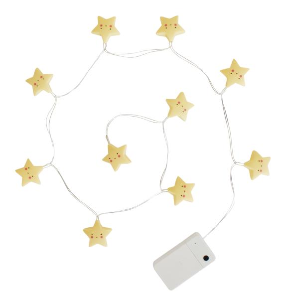 Guirlande lumineuse étoiles - jaune
