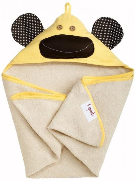 Kapuzenbadetuch Affe (gelb)