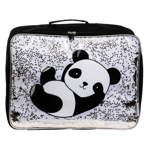 Valise : panda glitter