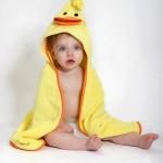 Puddles le canard serviette bébé