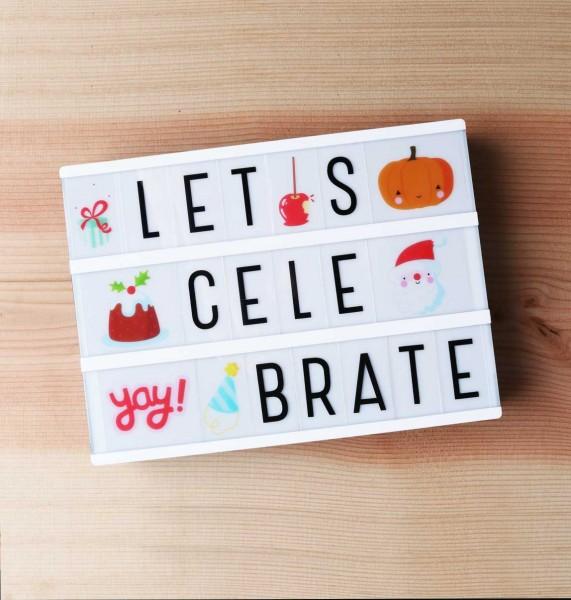 Set de lettres - let''s celebrate