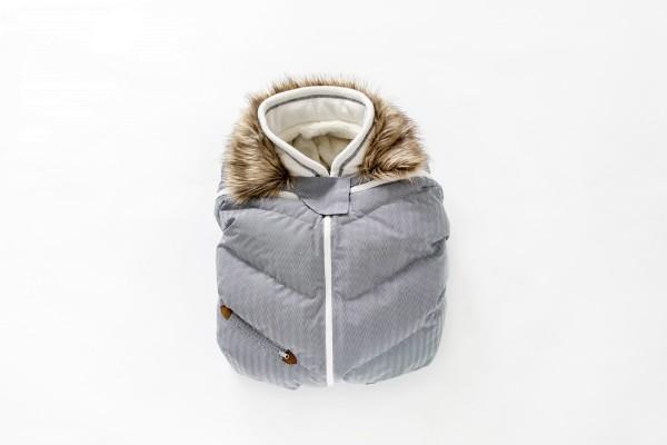 Housse hiver pour cosy gris chiné