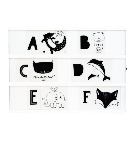 Set de lettres - ABC - black